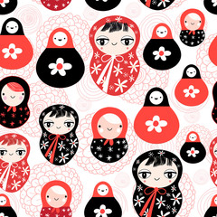 funny pattern with dolls