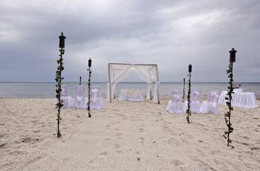 outdoor beach wedding gazebo