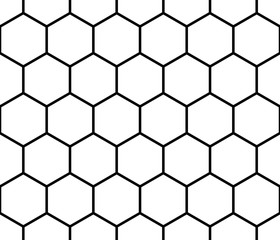 Seamless monochrome pattern, background with octagon shapes.