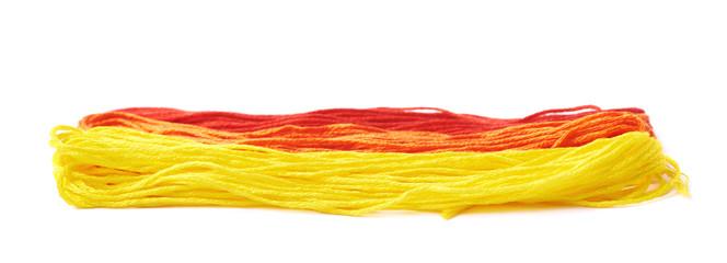 Embroidery thread yarn isolated