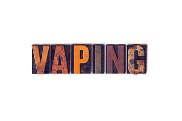 Vaping Concept Isolated Letterpress Type