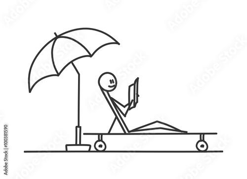 sm sonnenliege mit schirm ii stockfotos und lizenzfreie vektoren auf bild 100381590. Black Bedroom Furniture Sets. Home Design Ideas