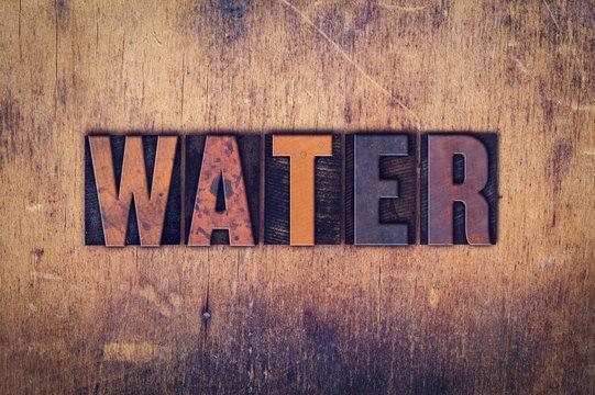 Water Concept Wooden Letterpress Type