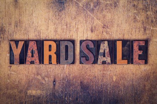 Yard Sale Concept Wooden Letterpress Type