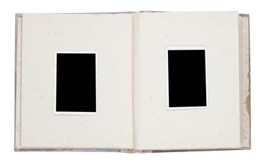 Photo album with vintage photo frames