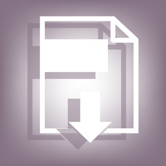 File download icon with shadow