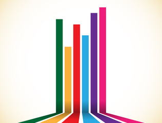 Abstract colorful stripes, lines element. Vector illustration.