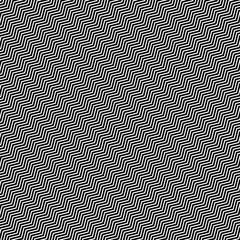 Slanting wavy (zigzag) lines. Abstract monochrome pattern, backg