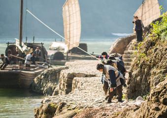 chinese junk on the Yangtze River