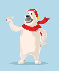 Polar Bear. Vector cartoon illustration