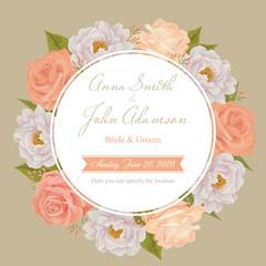 Flower wedding invitation card, save the date card, greeting car