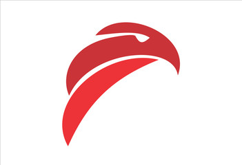 red eagle head artistic and simplified logo