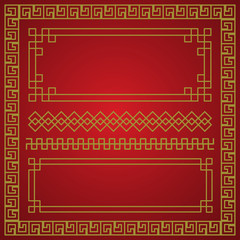 chinese new year border, vector elements