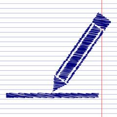 Pencil sign illustration