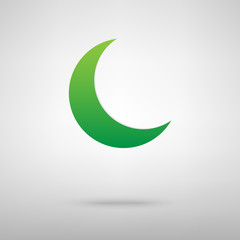 Moon icon with shadow