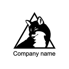 Logo with head of a fox