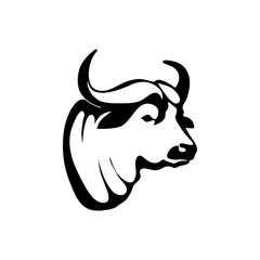 Logo with head of a buffalo