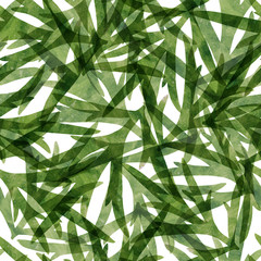 Watercolor plant seamless pattern