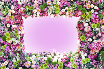 Wall Mural - colorful flowers frame