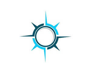 Blue Compass Rose Logo Template 2