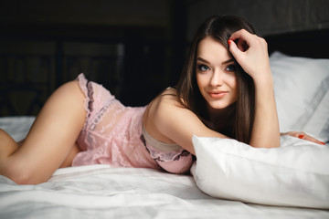 Young girl in a sexy panties