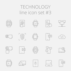 Technology icon set.