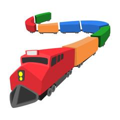 Locomotive cartoon icon