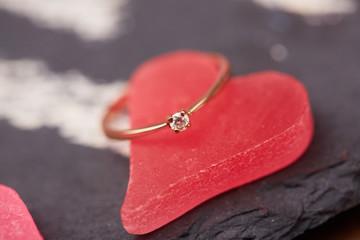 gold ring Valentine's Day