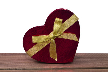 heart gift isolated