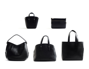woman handbags isolated on white background