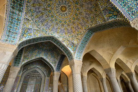 Interior of Vakil Mosque in Shiraz