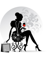Elegant Lady - Red Wine