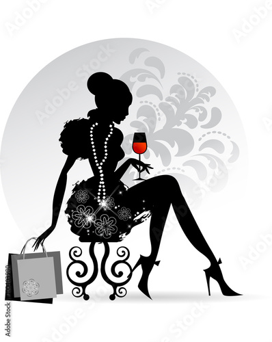 Quot Elegant Lady Red Wine Quot Stock Image And Royalty Free