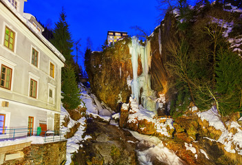 Fototapete - Waterfall in Mountains ski resort Bad Gastein Austria