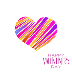 Abstract valentines day colorful heart design element background