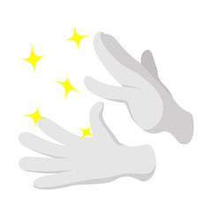 Magician gloves cartoon icon