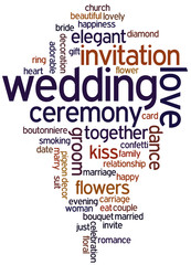 Wedding, word cloud concept 8