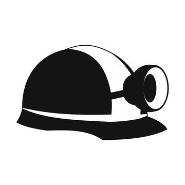 Miners helmet with lamp icon