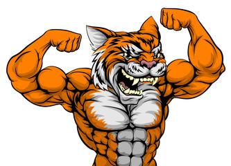 Tiger Man Mascot