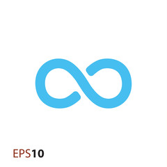 Infinity icon for web and mobile