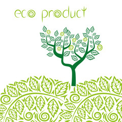 Eco product concept background. Vector illustration.