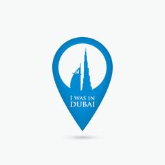 Dubai location pin