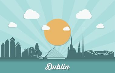 Wall Mural - Dublin skyline