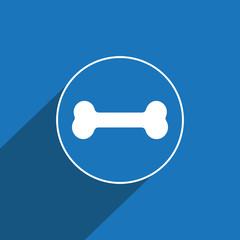 Dog bone icon for web and mobile. Dog food symbol
