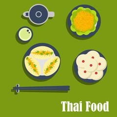 Asian lunch of thai cuisine