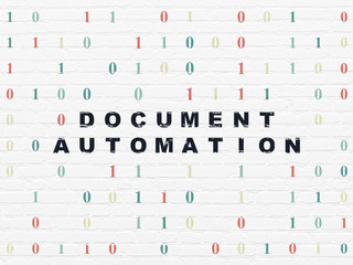 Business concept: Document Automation on wall background