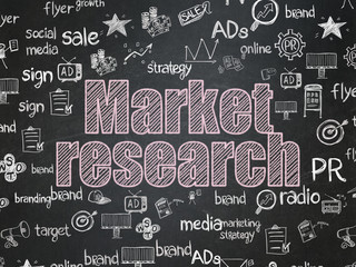 Marketing concept: Market Research on School Board background