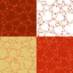 Vector set of seamless Valentine's patterns.