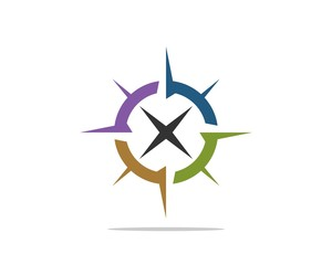 Star Compass Rose Logo Template