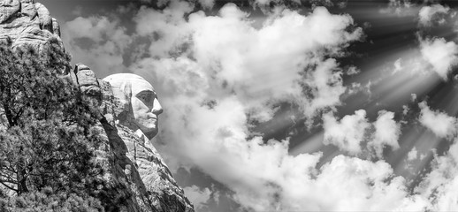 Fototapete - George Washington - Mount Rushmore, side view